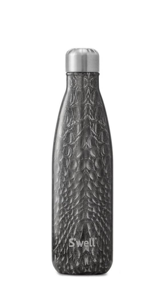 Black Crocodile - Stainless Steel S'well Water Bottle