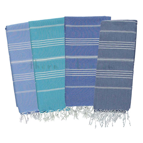 Blues 100% Cotton Mini Turkish Towel