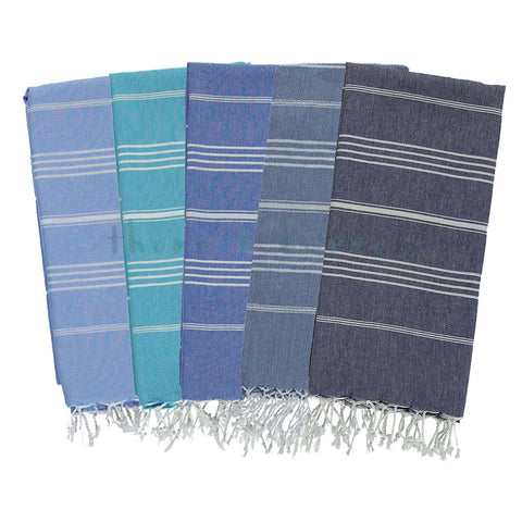 Blues 100% Cotton Turkish Towel