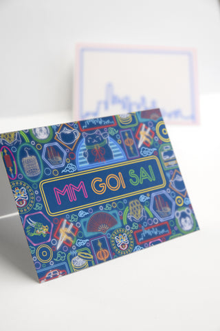 Boxed Notecards - Neon Mm Goi Sai