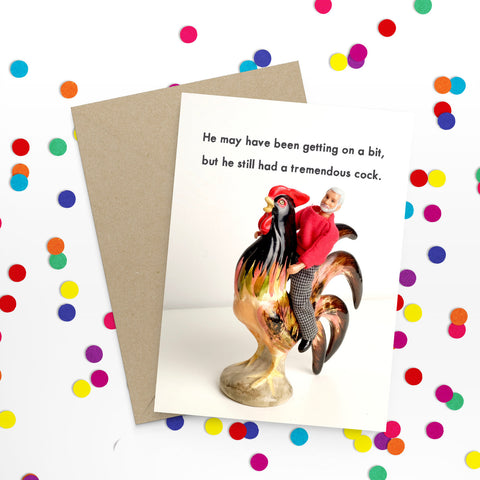 """ Cock "" Greeting Card"