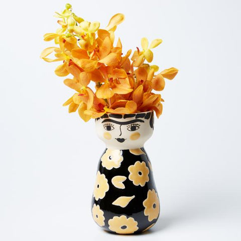 Frida Oro Face Vase