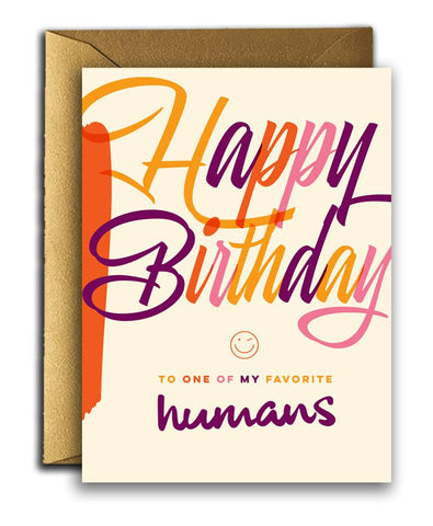 """ Favourite Humans "" Card"