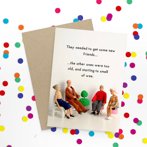""" New Friends "" Greeting Card"