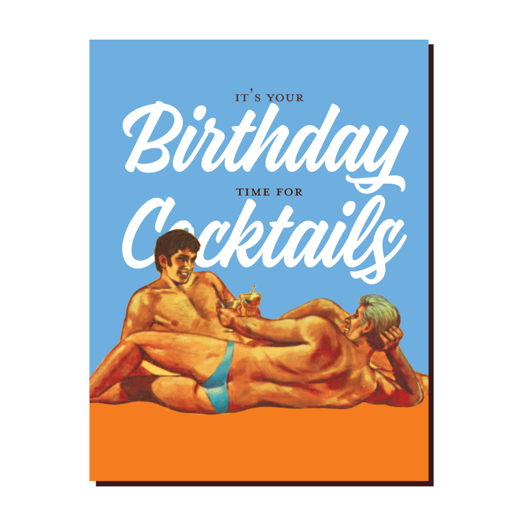 """ Birthday Cocktails "" Card"