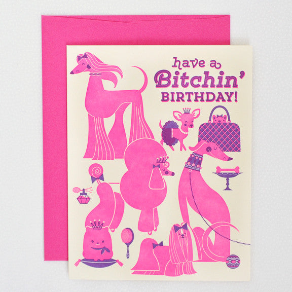Bitchin' Birthday Card Greeting Cards - Thorn and Burrow