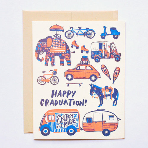 'Enjoy The Ride' Graduation Card