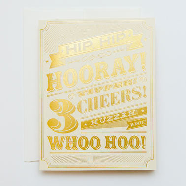 'Hip Hip Hooray ' Card Greeting Cards - Thorn and Burrow