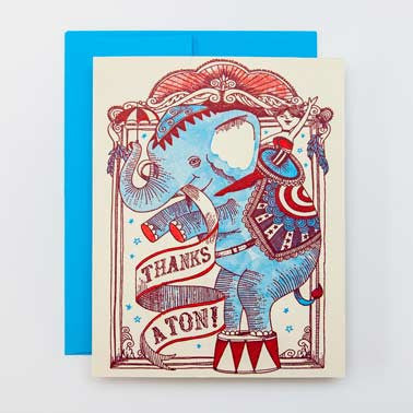'Thanks A Ton' Card Greeting Cards - Thorn and Burrow