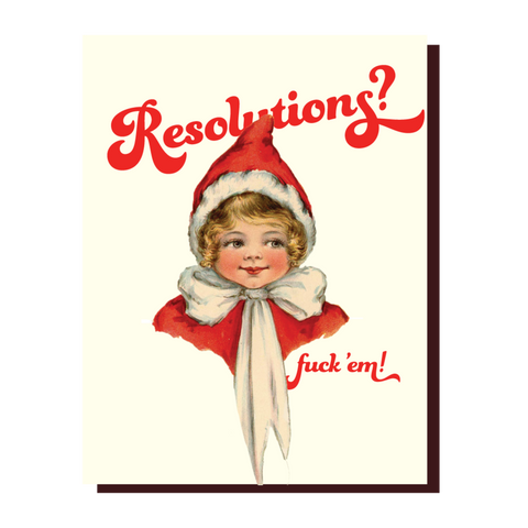 """ Resolutions "" Card"