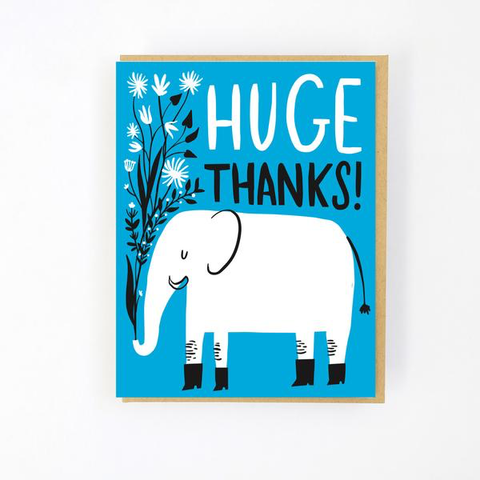 ' Huge thanks  ' Card
