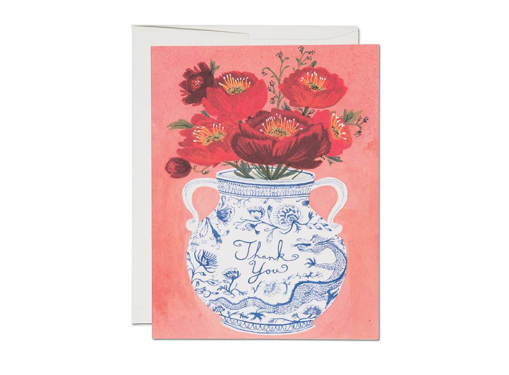 """ Dragon Vase "" Card"
