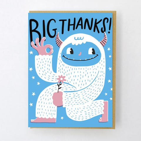 ' Yeti thanks  ' Card