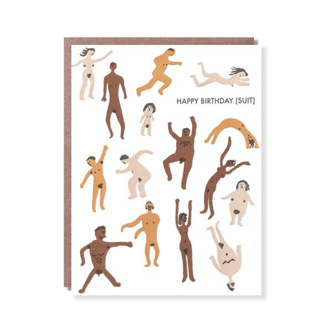 ' Happy birthday Suit ' Card