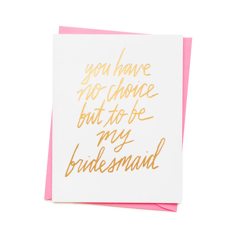 ' Bridesmaid ' Card