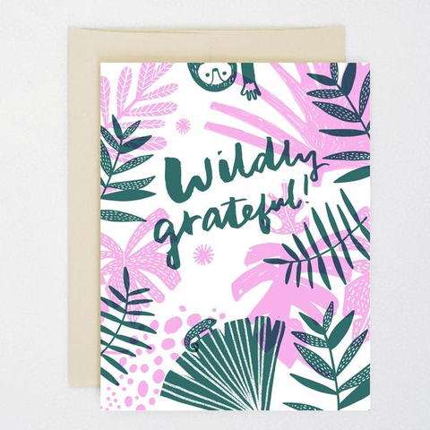 ' Wildly grateful  ' Card