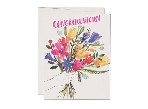 """ Congratulations Hand Bouquet "" Card"