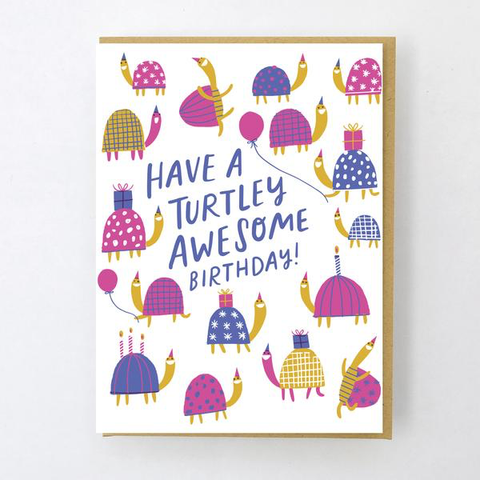 ' Turtley awesome ' Card