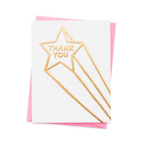 ' Thank You Star  ' Card