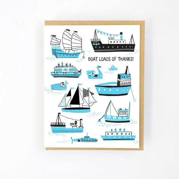 ' Boat loads of thanks ' Card