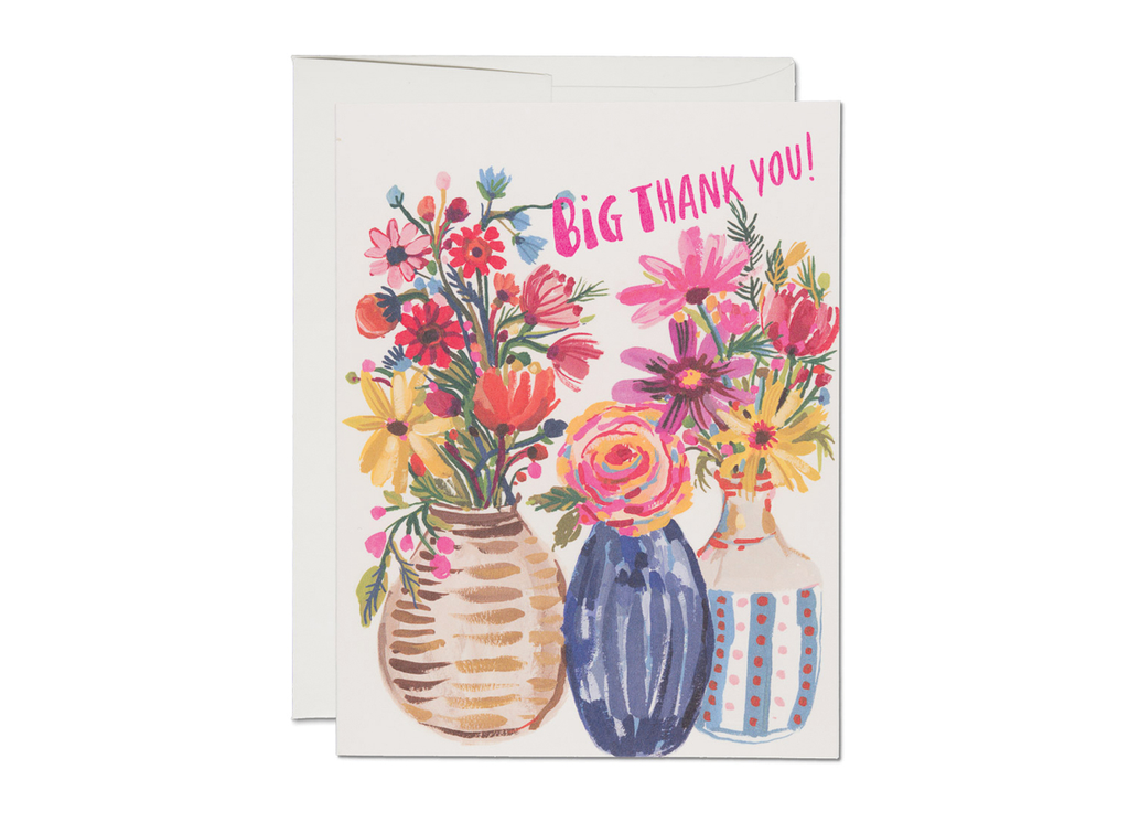 """ Ceramic Vase Thank You "" Card"