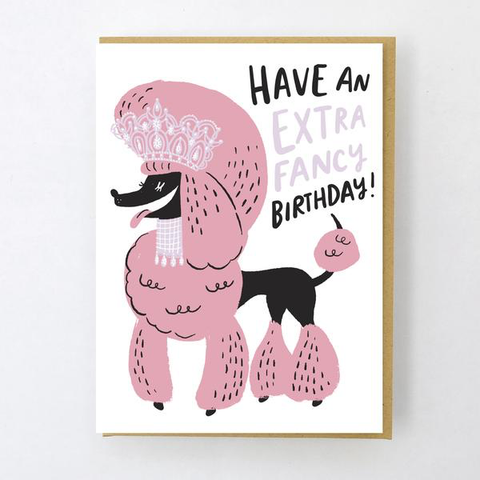 ' Bling poodle ' Card