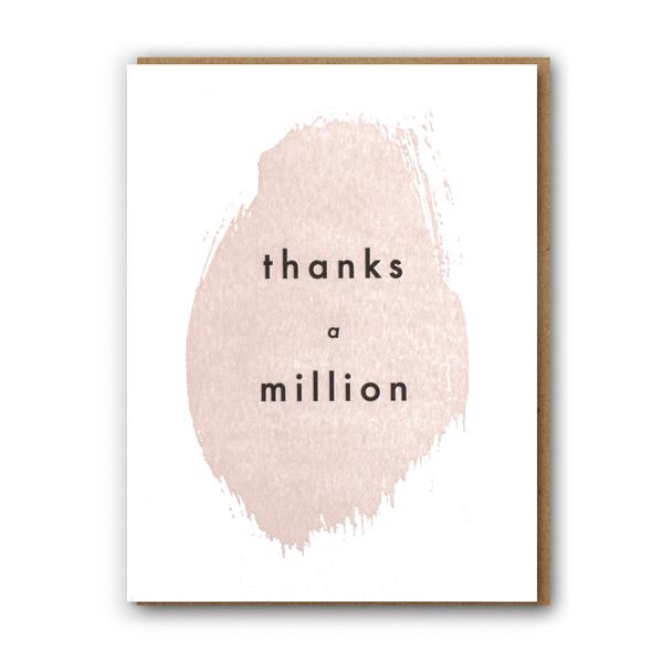 ' Thanks a million ' Card