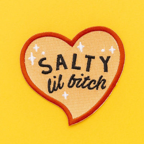 Salty Lil Bitch Embroidered Iron On Patch