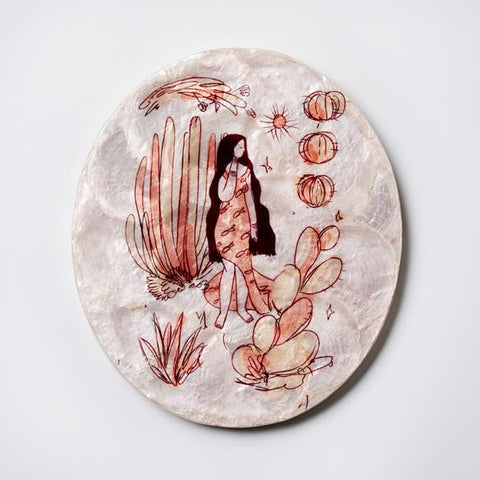 Earth Mama Tile Apricot Wall Decor
