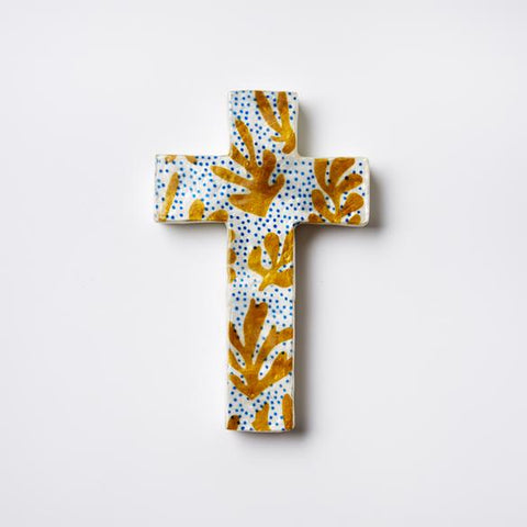 Matisse Aqua Cross Wall Decor
