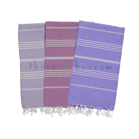 Purple 100% Cotton Turkish Towel