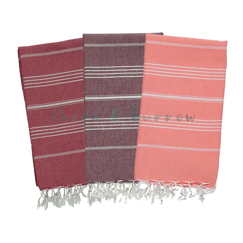 Red 100% Cotton Turkish Towel