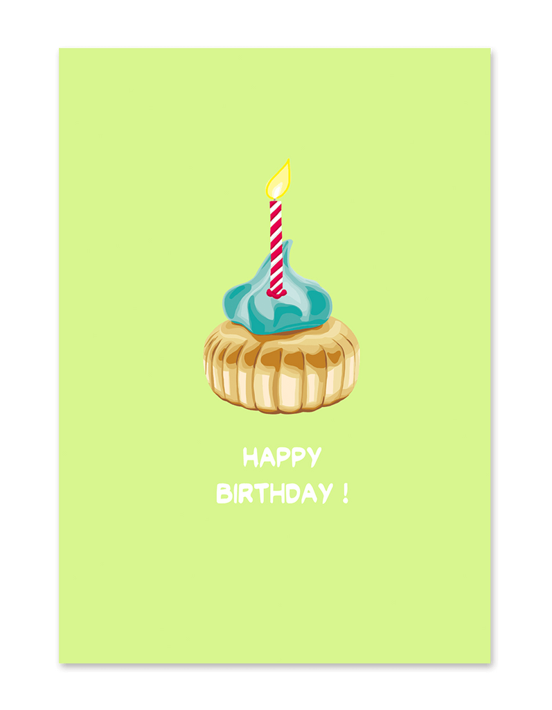 """ Happy Birthday Iced Gem "" Greeting Card"