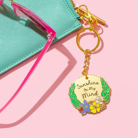 Sunshine On My Mind Enamel Keyring