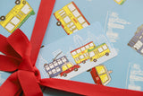 Blue Transport Gift Tag
