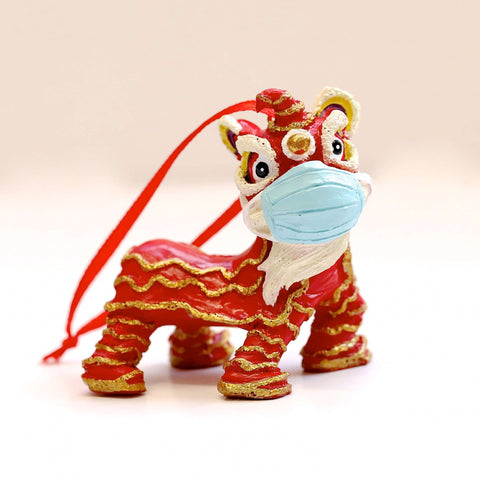 Hanging Decoration: Masked Chinese New Year Lion Dance (Limited Edition)