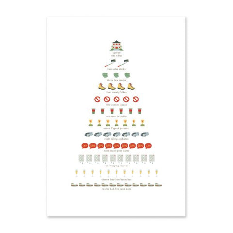 """ Alternative 12 Days of HK Christmas "" Pack of 10 - Christmas Card"