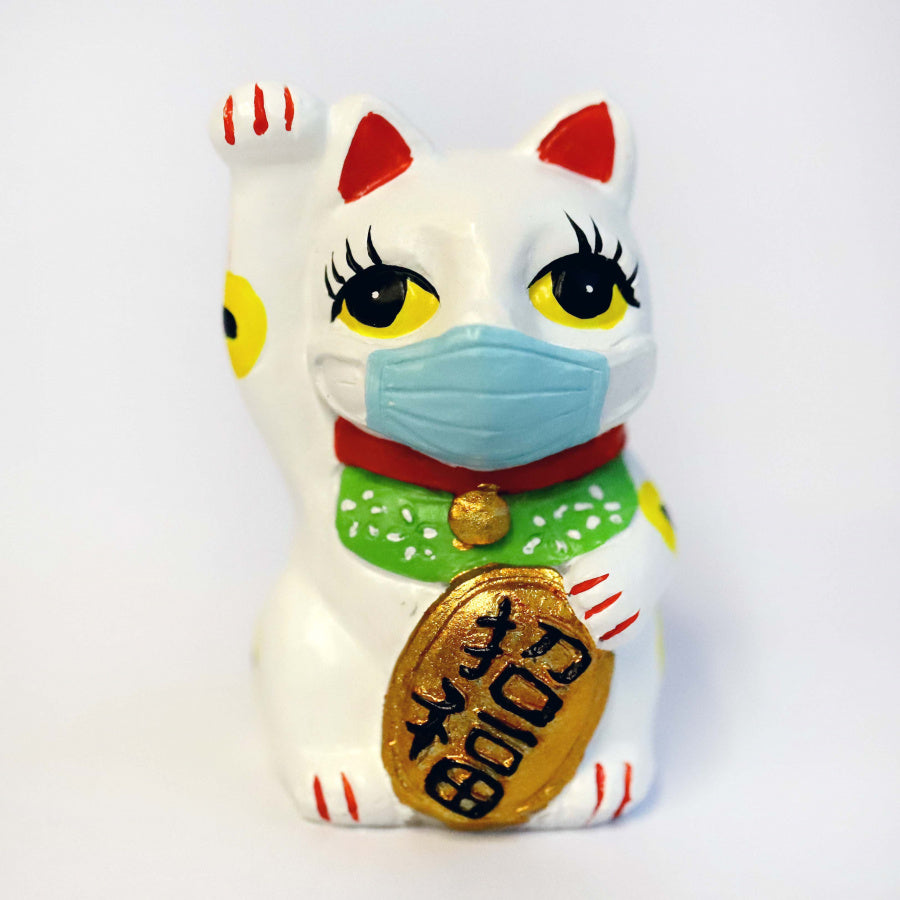 Masked Lucky Cat Magnet