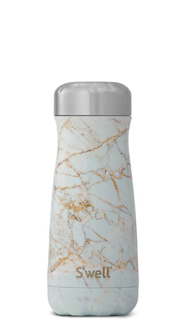 Calacatta Gold Traveler - Stainless Steel S'well Water Bottle
