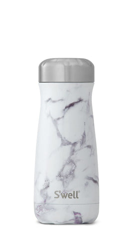 White Marble Traveler - Stainless Steel S'well Water Bottle