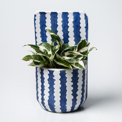 Papercut Wall Planter - Blue