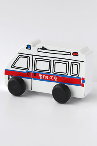Hong Kong Push Along Police Van Toy