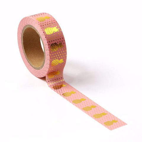 Pink & Gold Pineapple Washi Tape