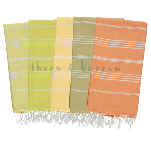 Yellowish 100% Cotton Mini Turkish Towel