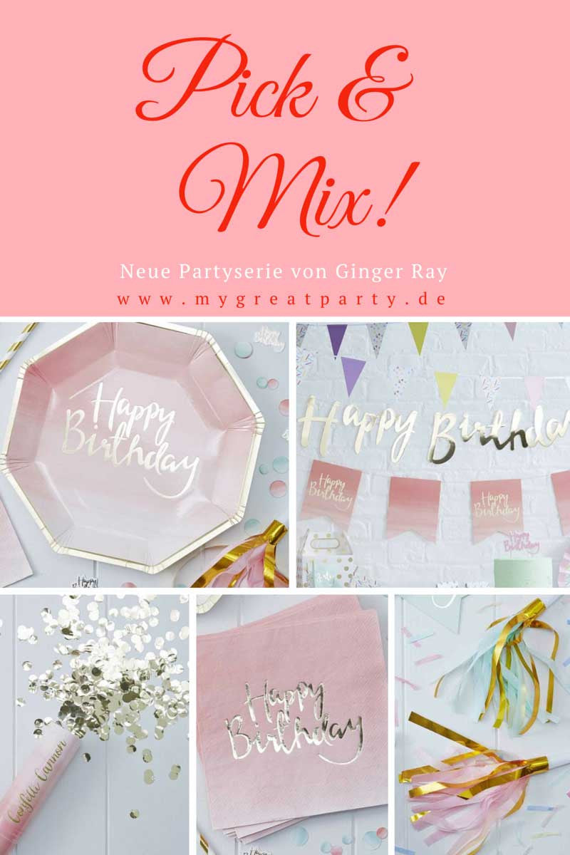 "Party Inspiration:  Neue Partyserie  ""Pick and Mix"""