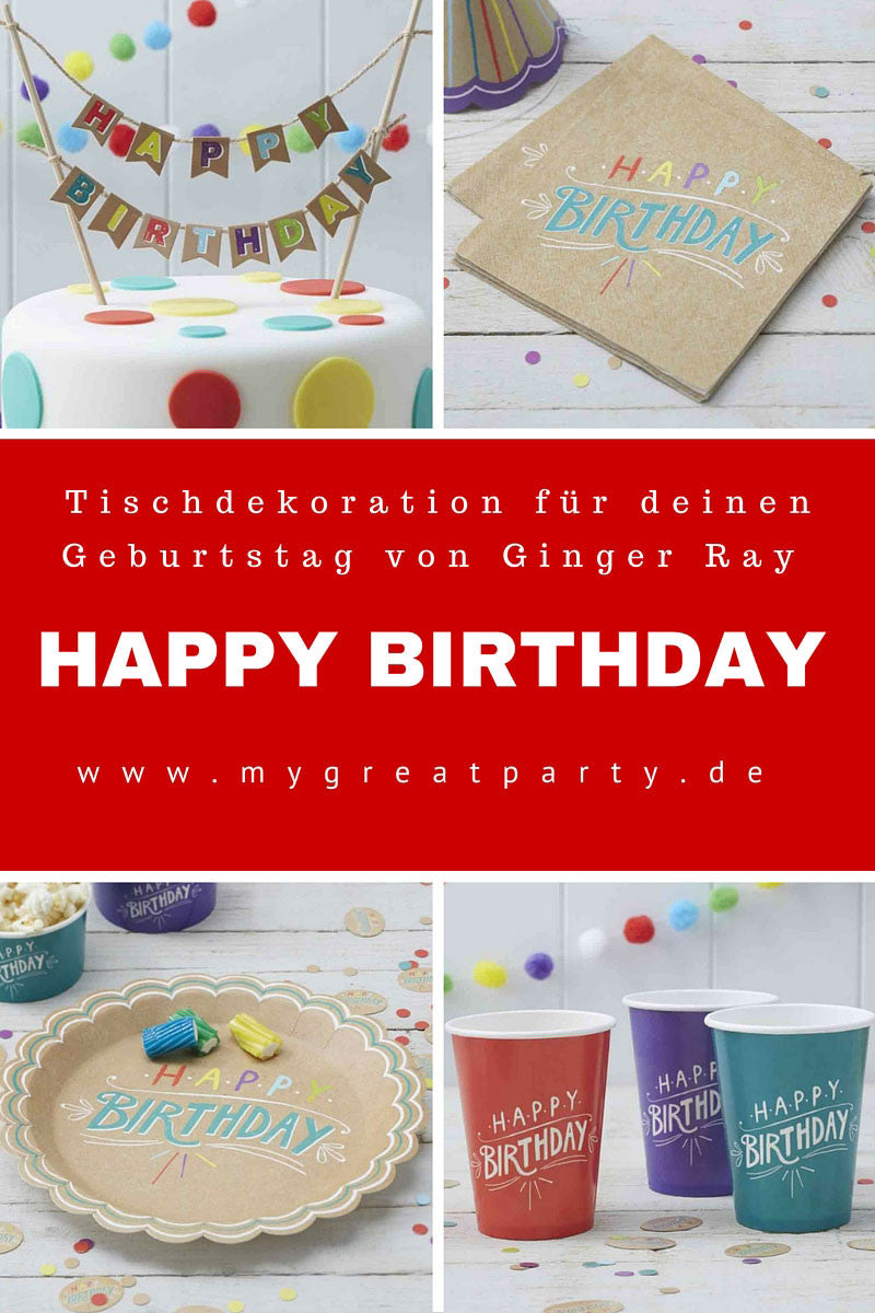 "Neuheit: Partyserie ""Happy Birthday"" von Ginger Ray"