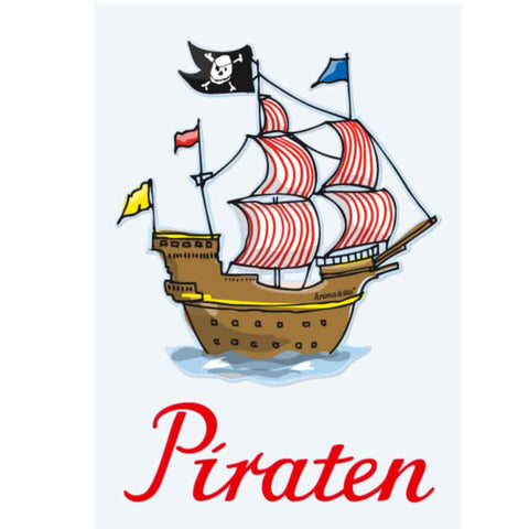 Bügelbild Piratenschiff für wilde Piraten