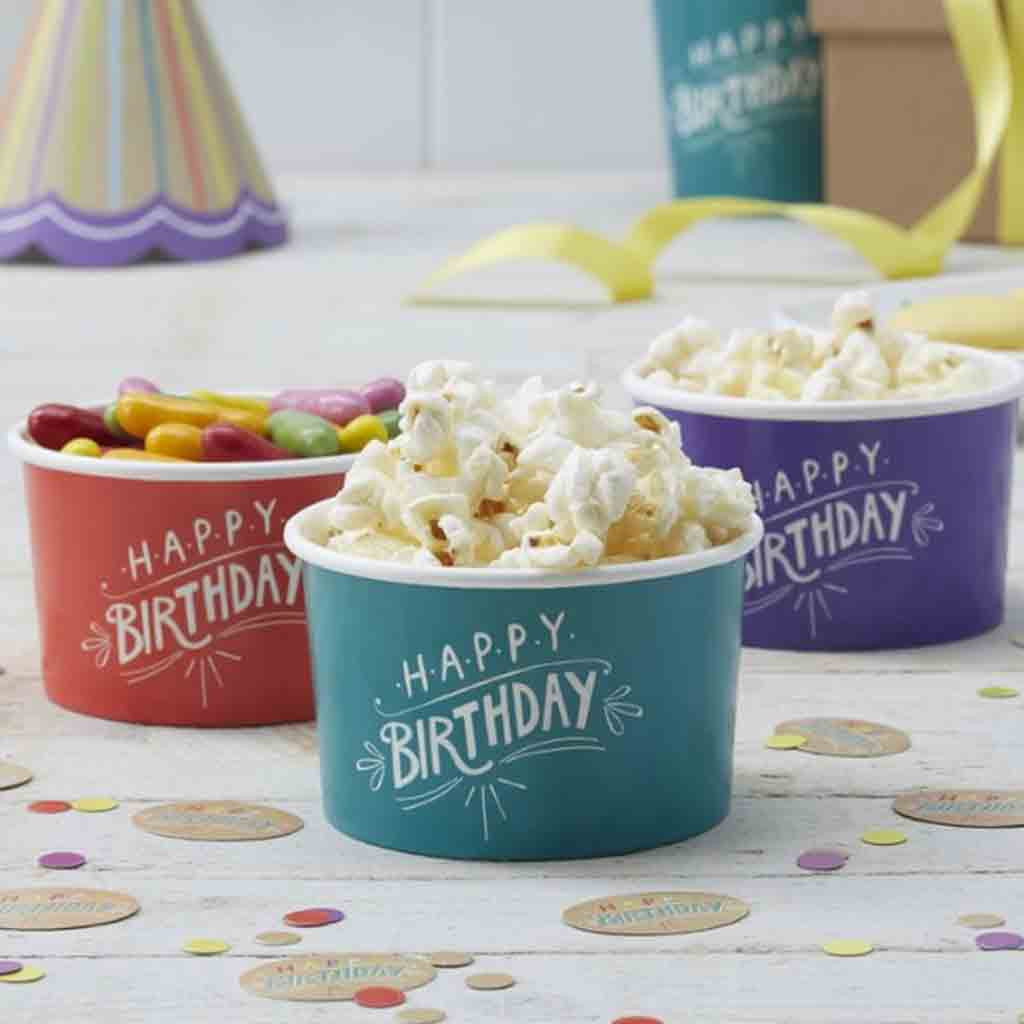 "Eisbecher ""Happy Birthday"", Servierbox"
