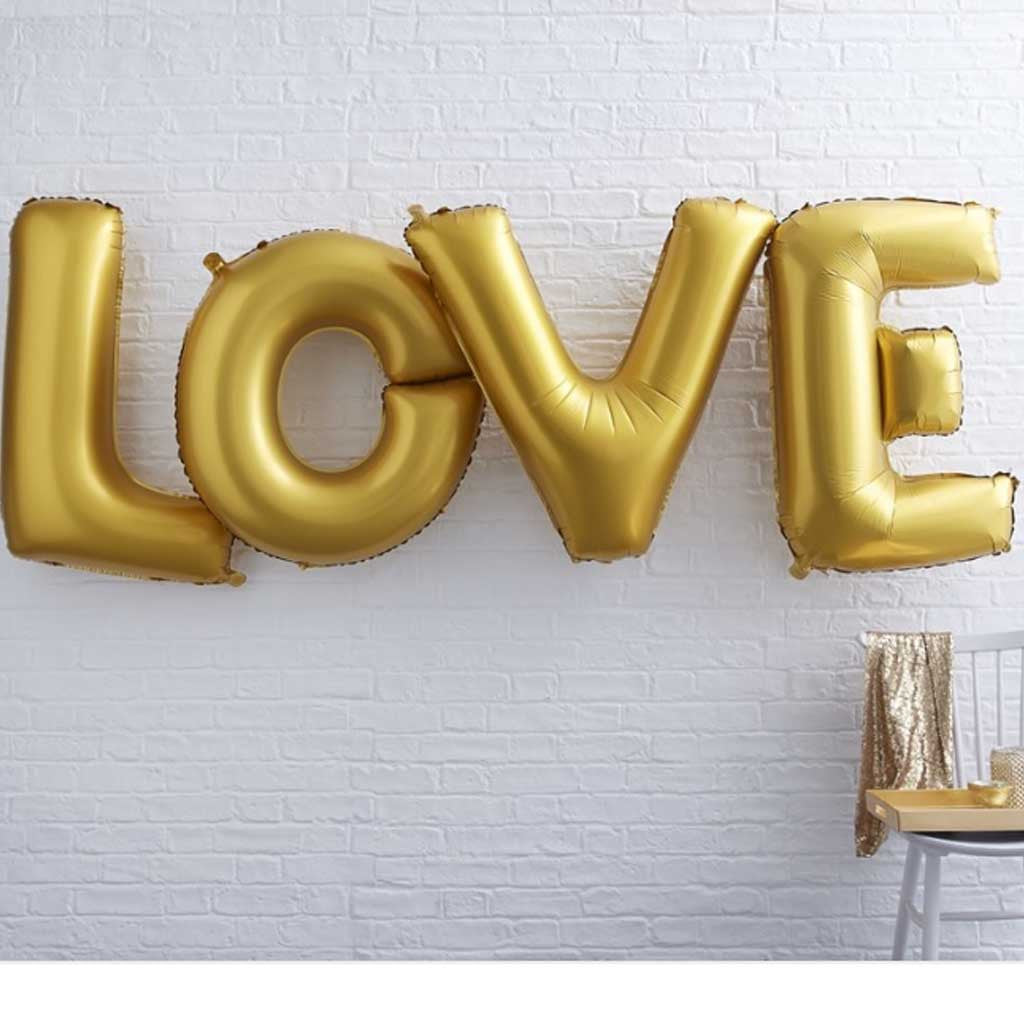 "Folienballon Set ""Love"" Gold"