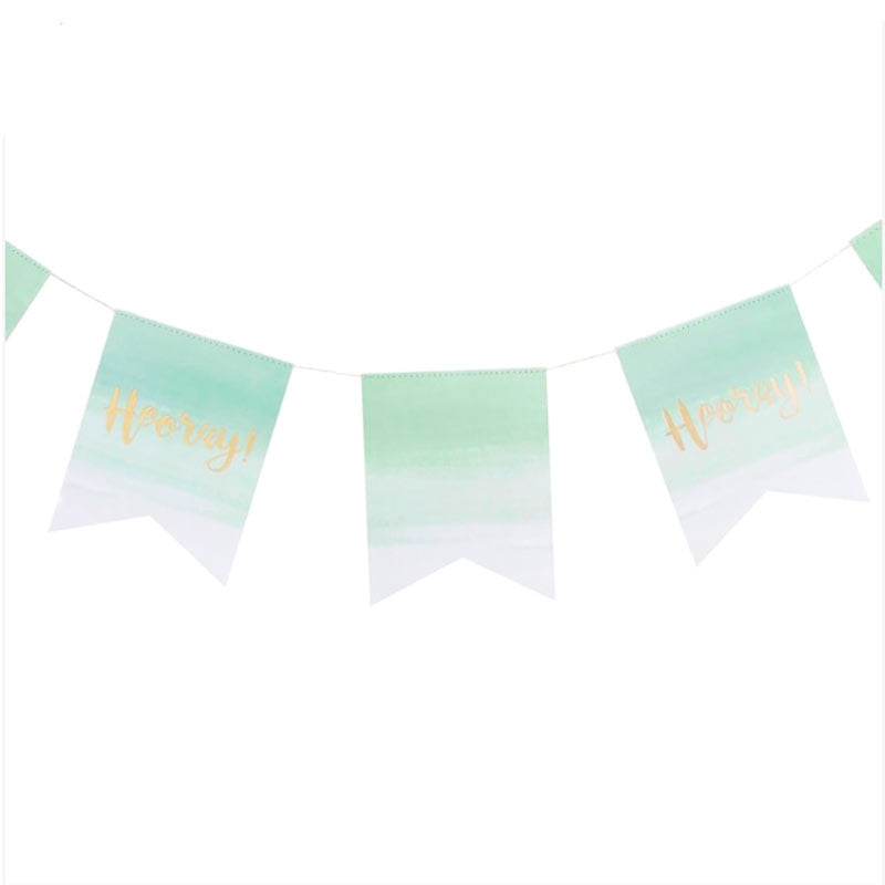 "Party Girlande ""Hooray"" Mint"